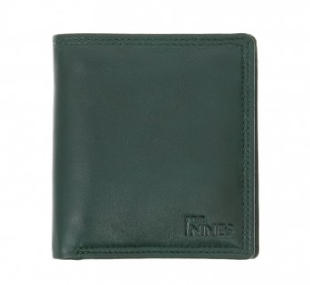Portefeuille horizontal cuir vert - ROM