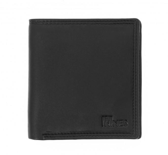 Portefeuille horizontal cuir noir - ROM