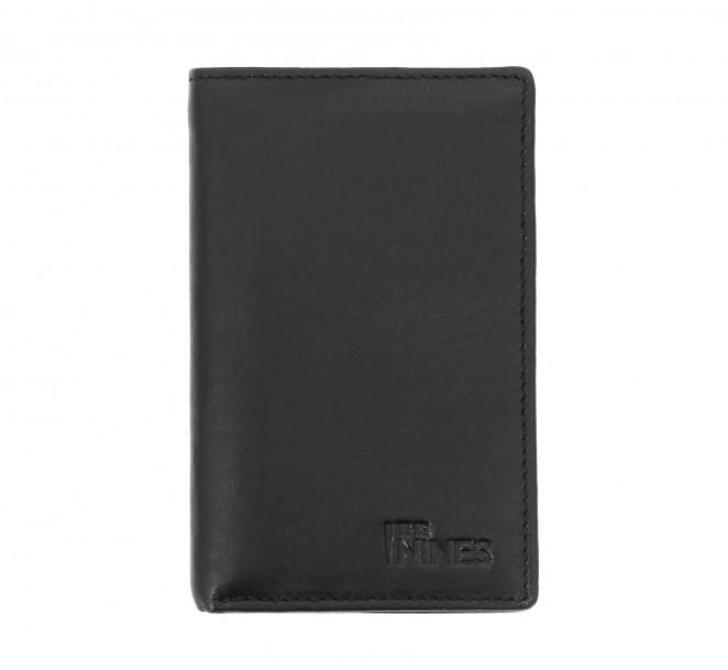 Porte-cartes et porte-billets cuir noirs - ORY