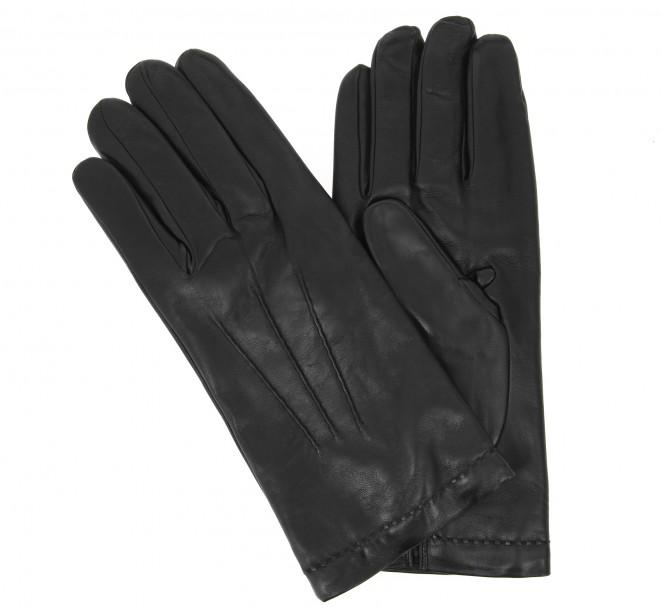 Gants noirs en cuir - LYN