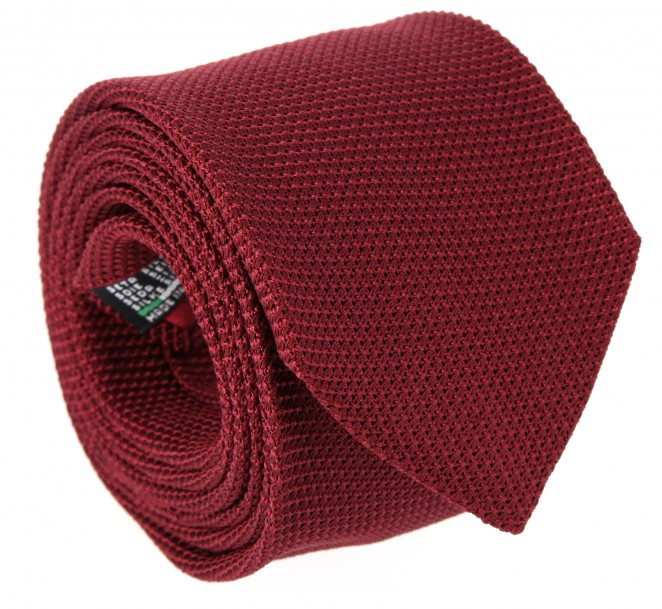 Karminrote Krawatte aus Grenadinen-Seide - Grenadines IV