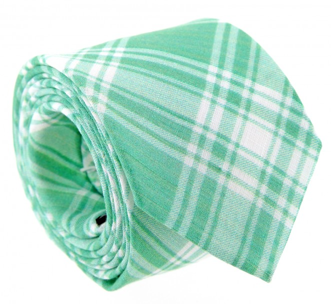 Grüne Krawatte im Schottenmuster - Dirleton