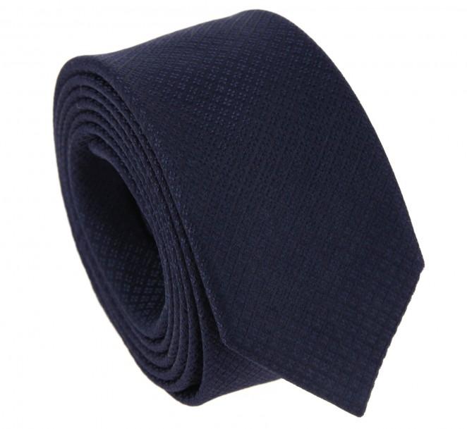 Marineblaue Farbe-in-Farbe Krawatte aus Seide - Viareggio