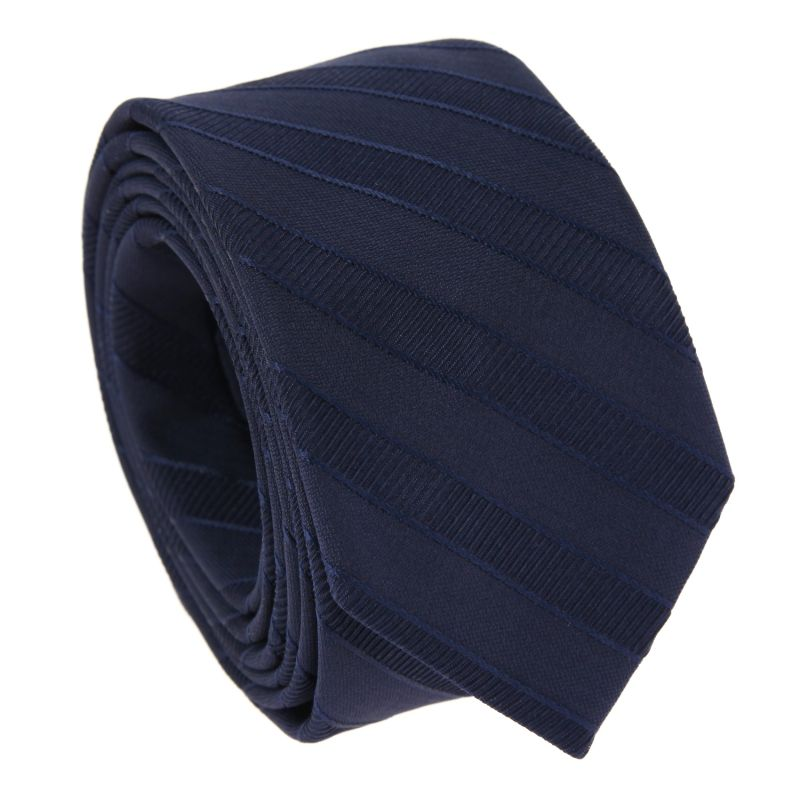 Marineblaue gestreifte Krawatte – Birmingham II