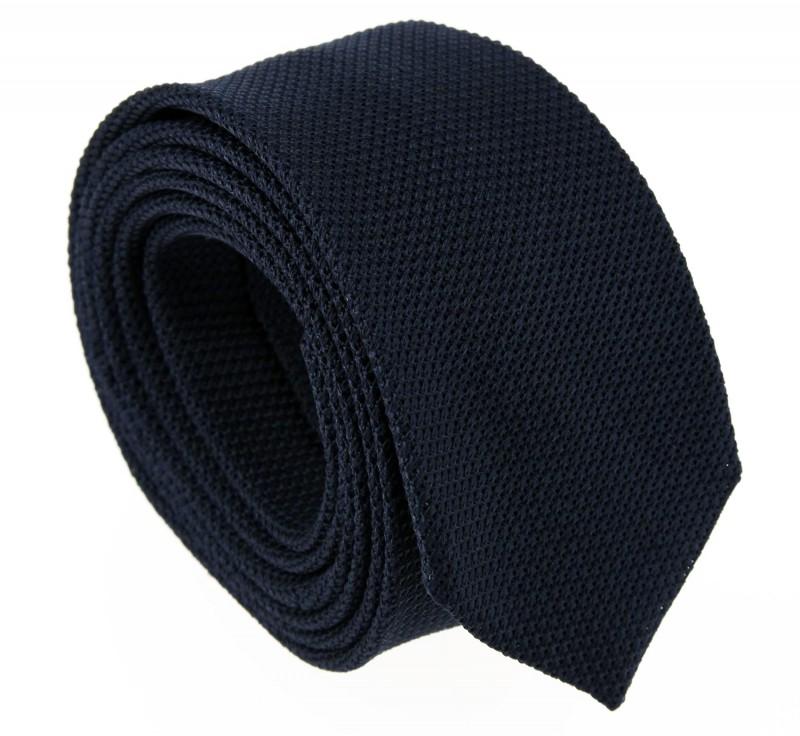 Marineblaue Slim-Krawatte aus Grenadinenseide - Grenadines V