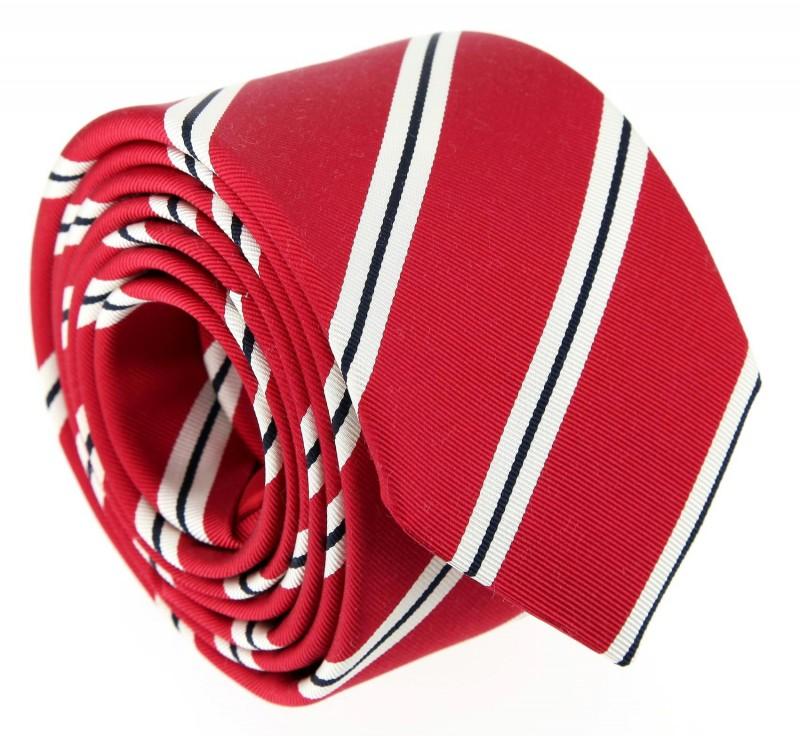 The Nines Club-Krawatte in rot, marineblau und weiß - York