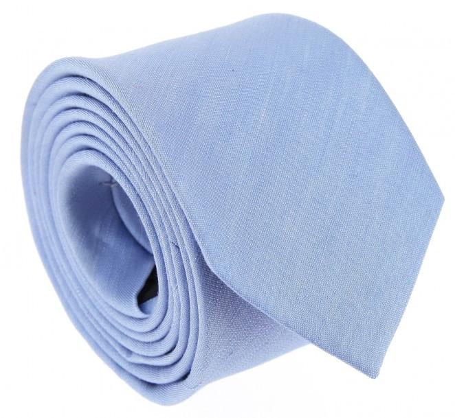 Himmelblaue leinen und seide-Krawatte - Belluno