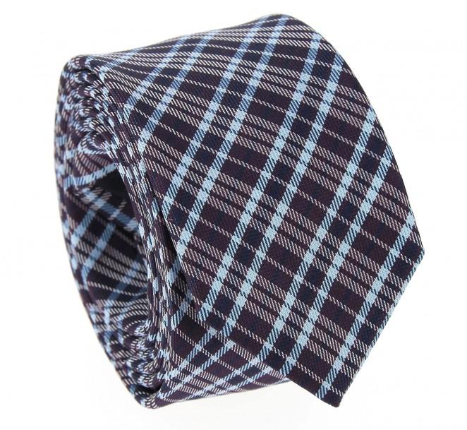 Lila Slim-Krawatte im Schottenmuster - Dornoch