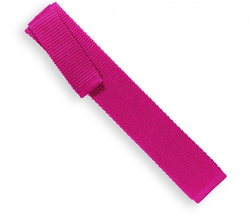 Cravate en tricot fuchia - Monza