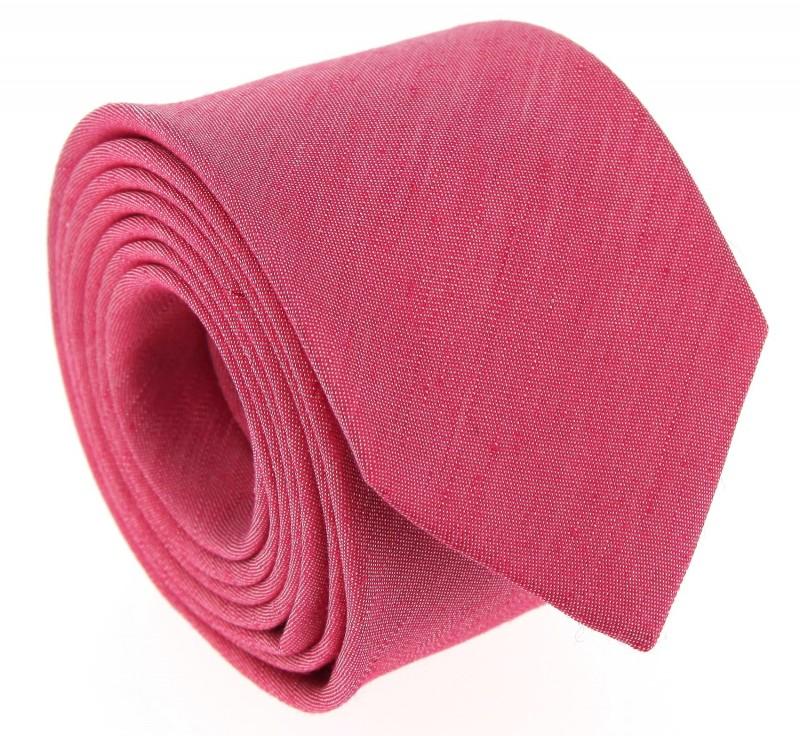 Rote Leinen und Seide-Krawatte - Belluno