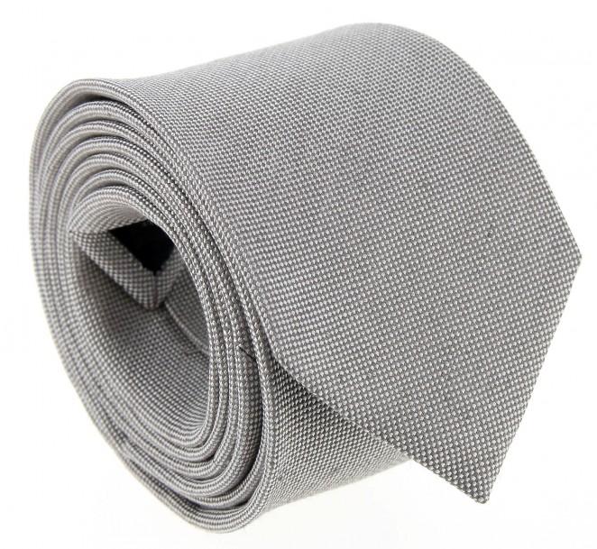 Lichtgraue geflochtene leinen und seide-Krawatte - Parme