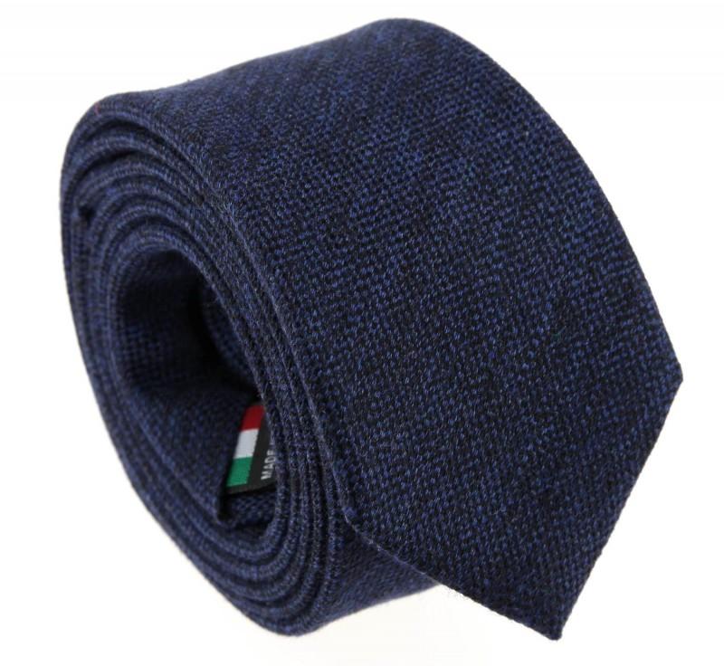Marineblaue baumwolle und Seide-Krawatte - Olbia