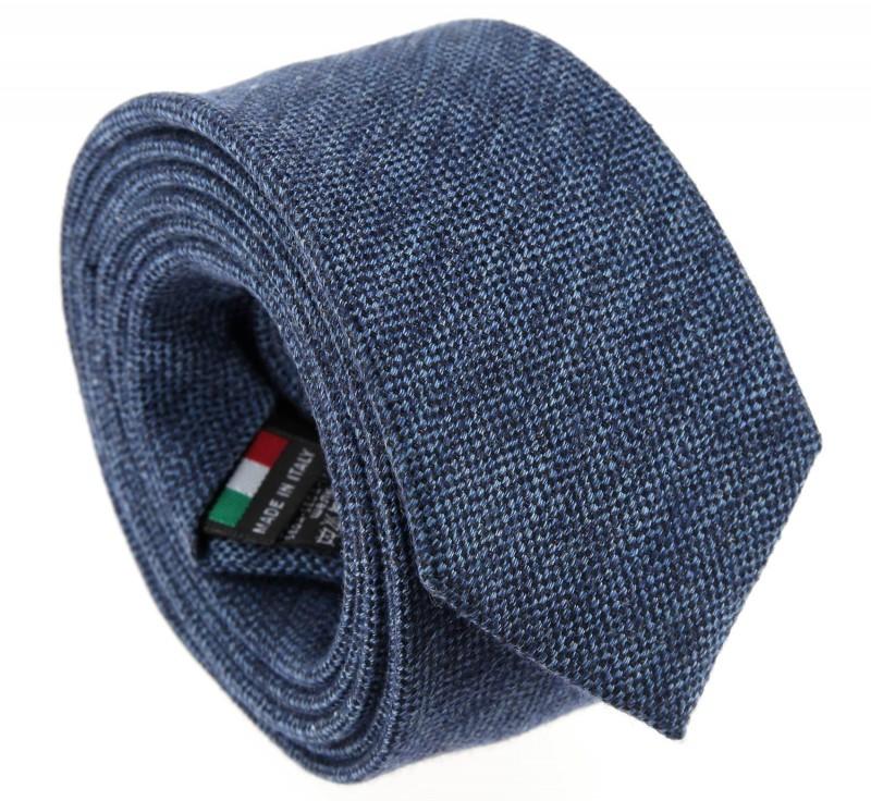 Blaue baumwolle und seide-Krawatte - Olbia