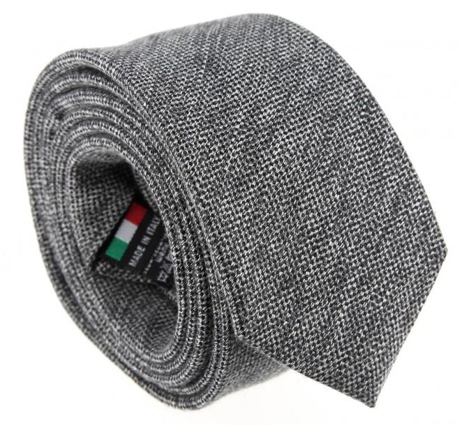 Graue baumwolle und seide-Krawatte - Olbia