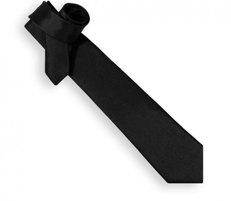 Cravate satin noir - Bellagio