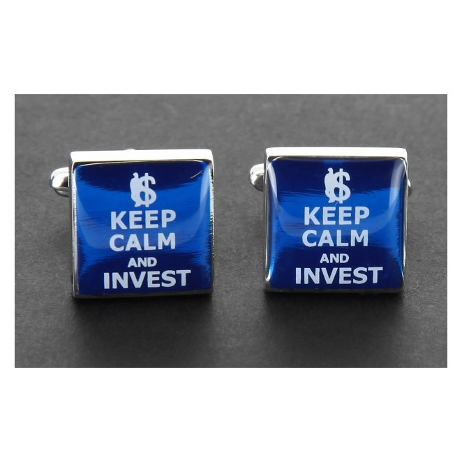 Investment Manschettenknöpfe - Keep Calm and Invest