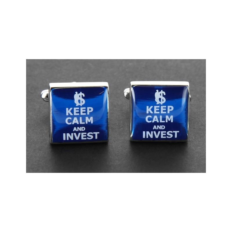 Investment Manschettenknöpfe - Keep Calm and Invest