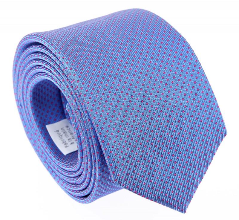 Blaue The Nines Krawatte mit rosa Punkten - Atlanta III