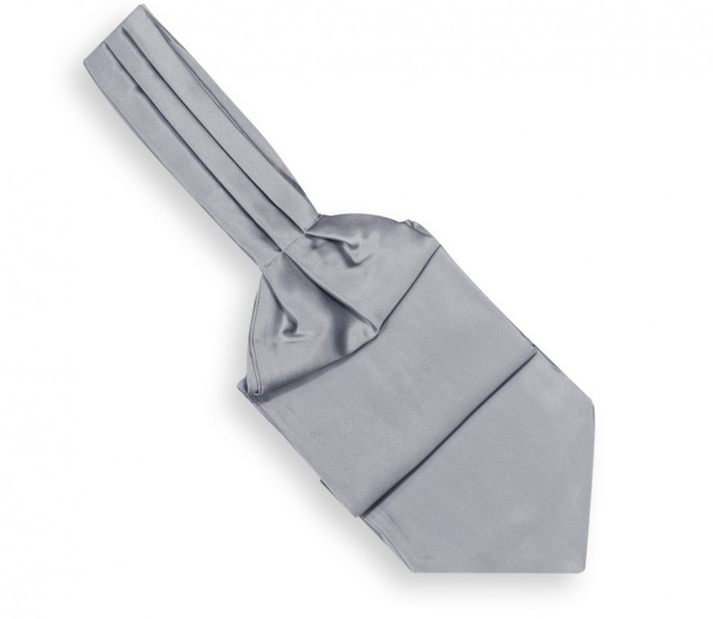 Cravate ascot gris perle - Ascot