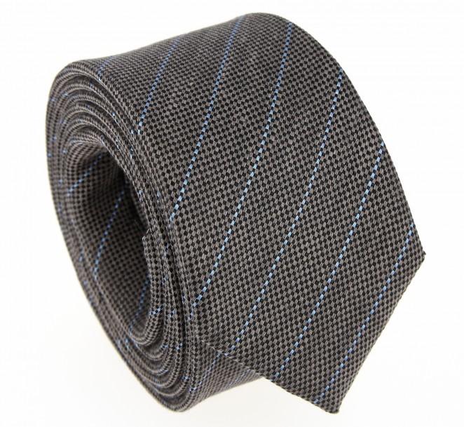 Tabak Krawatte mit blauen Streifen- Tampa