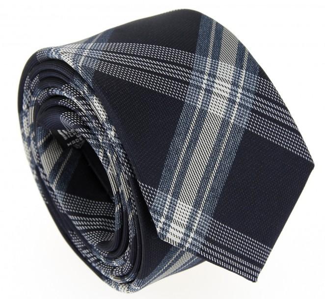 Marineblaue und blaue Krawatte im Schottenmuster - Ealing II