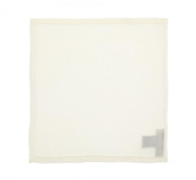 Weißes Strick Einstecktuch - Biarritz