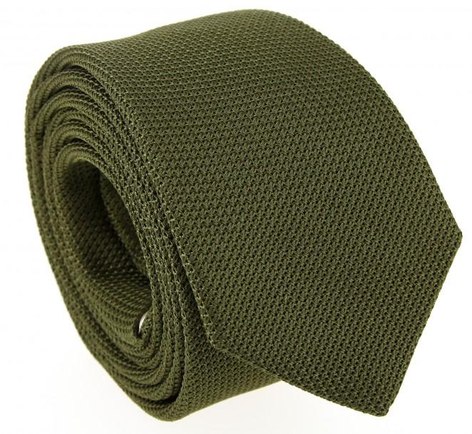 Kakhi-grüne The Nines Krawatte aus Grenadinen-Seide - Grenadines IV
