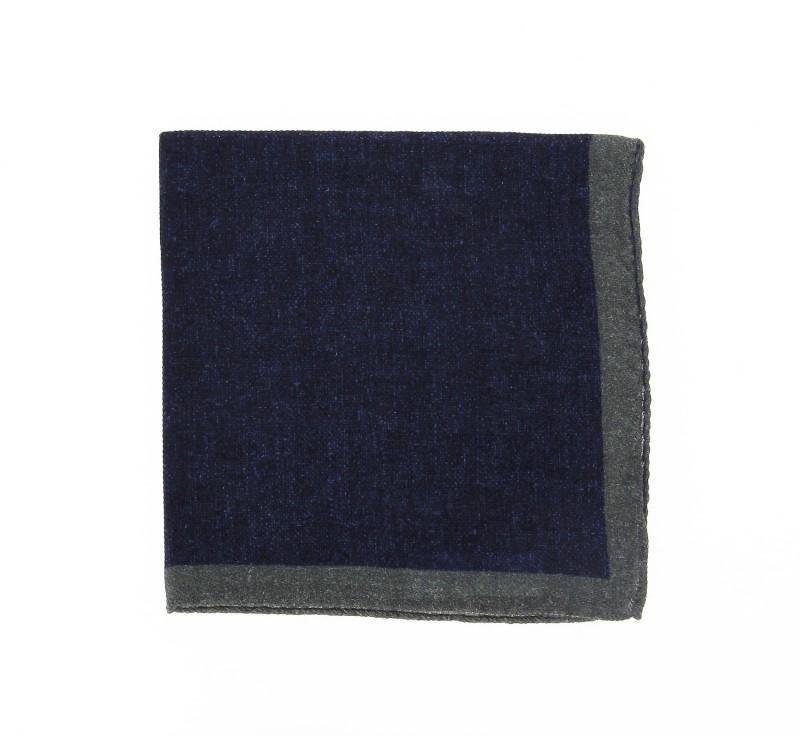 Denimblaues Einstecktuch - Camogli II