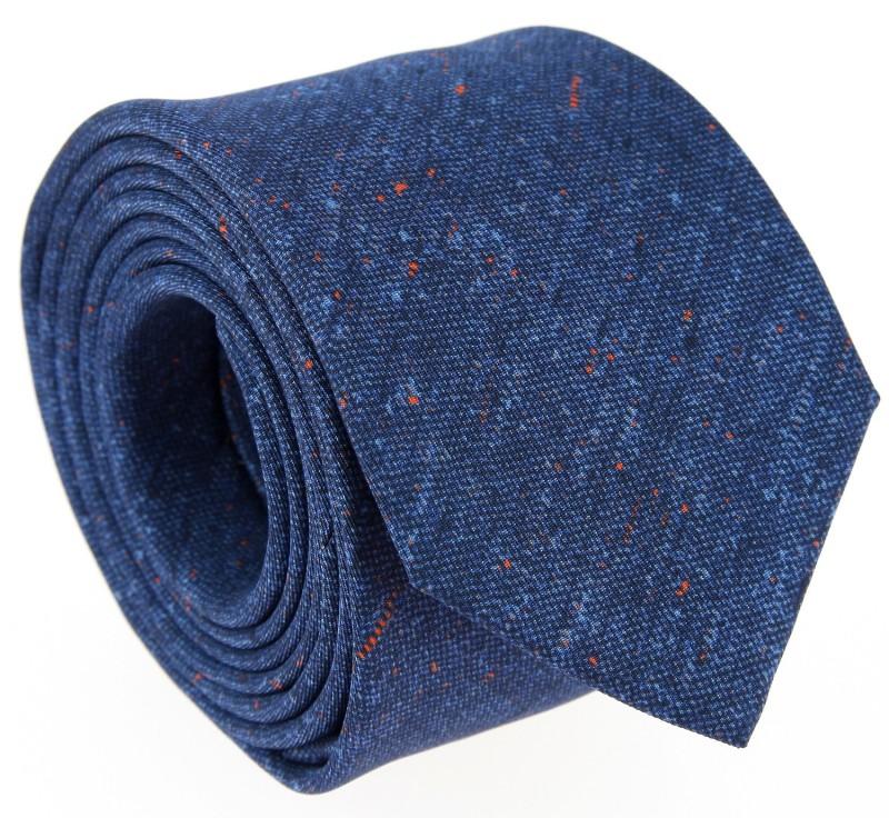 Denim Blaue Bedruckte-Seide The Nines Krawatte - Navigli