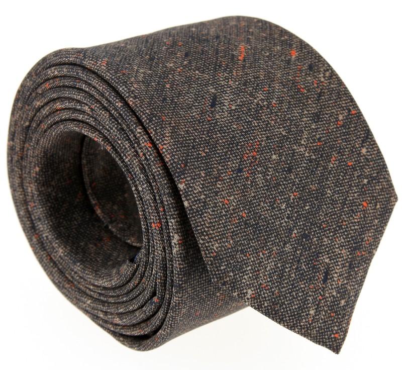 Braune Bedruckte-Seide The Nines Krawatte - Navigli