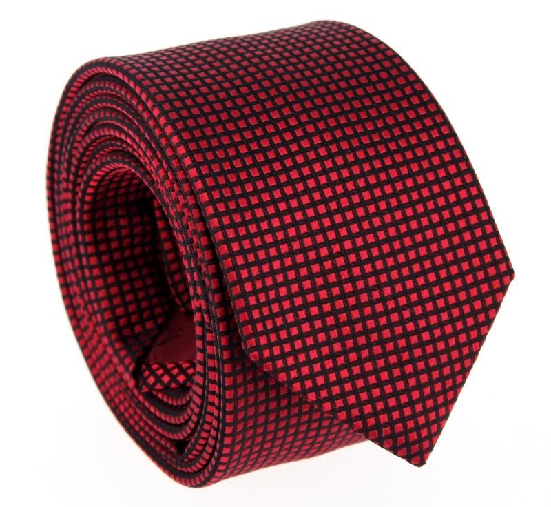 rote hugo boss krawatte mit quadratmuster das krawattenhaus. Black Bedroom Furniture Sets. Home Design Ideas