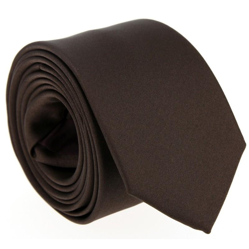 Braune Hugo Boss Satin Krawatte