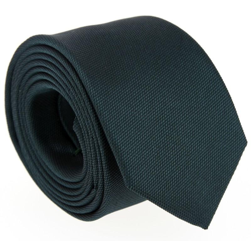Grüne Hugo Boss Slim-Krawatte aus geflochtener Seide