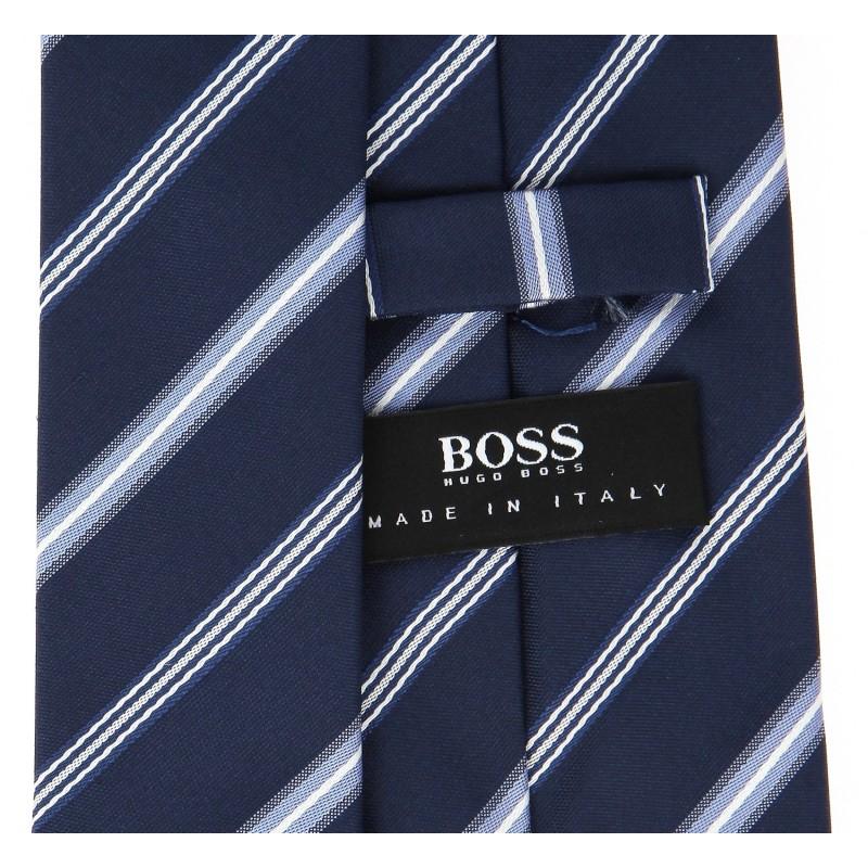 blaue hugo boss krawatte mit indigo streifen das. Black Bedroom Furniture Sets. Home Design Ideas