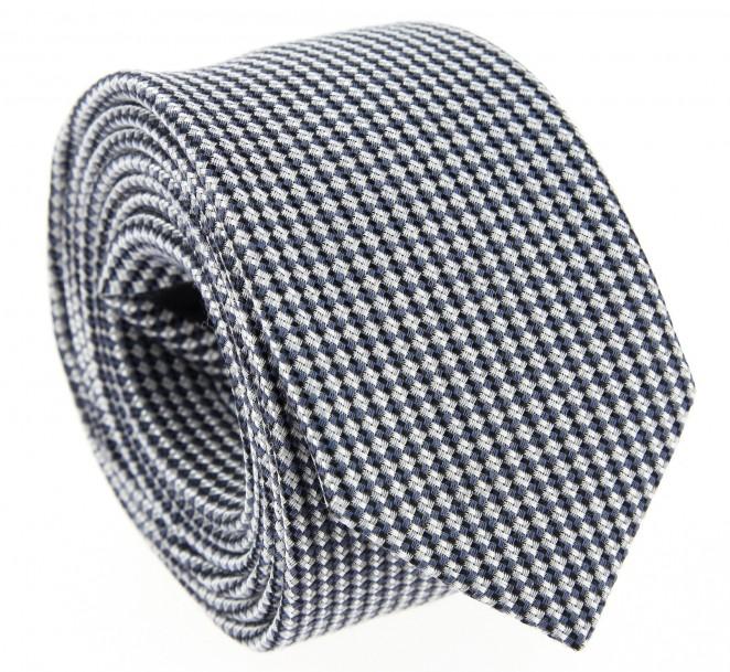 Marineblaue Hugo Boss Woll-und-Seiden-Krawatte