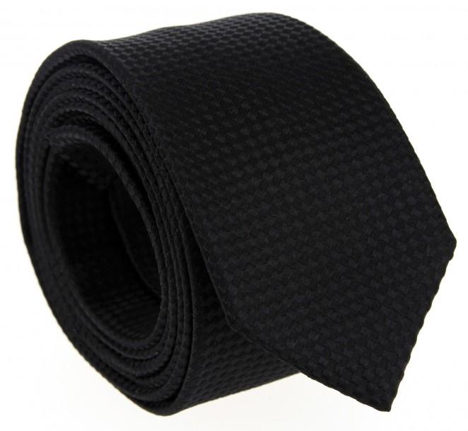 Schwarze Farbe-in-Farbe Hugo Boss Krawatte