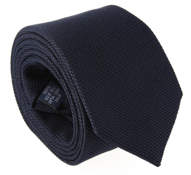 Marineblaue Breuer Krawatte aus Grenadinen-Seide