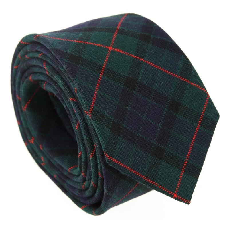 Marineblaue, grün und rote Tartan the Nines-Krawatte - Dunbar II