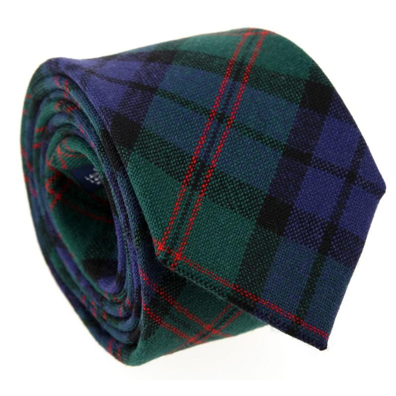 Blaue, grün und rote Tartan The Nines-Krawatte - Dunbar III