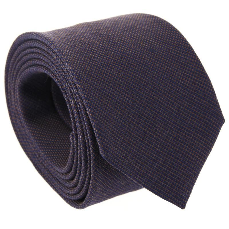 Braune geflochtene seide und wolle The Nines-Krawatte - Baltimore