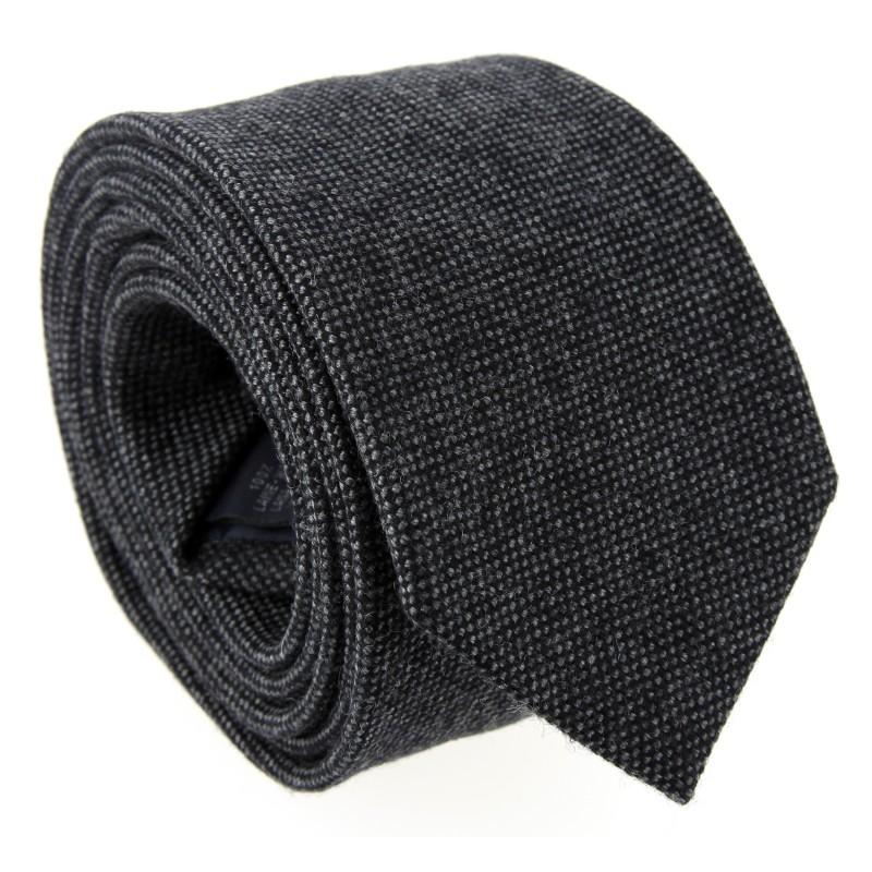 Anthrazit-graue Wolle The Nines-Krawatte - Brisbane III