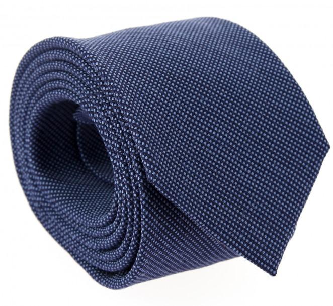 Marineblaue geflochtene seide und wolle The Nines-Krawatte - Baltimore