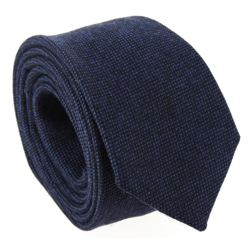 Marineblaue Wolle The Nines-krawatte - Brisbane III