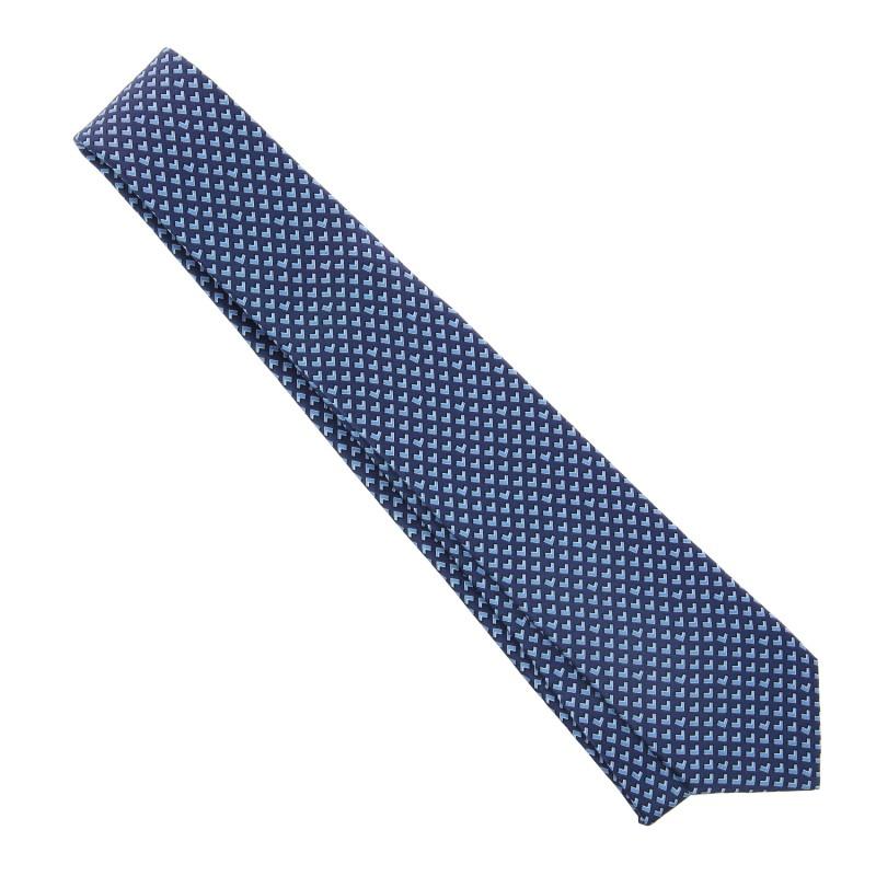 blaue lanvin krawatte mit muster das krawattenhaus. Black Bedroom Furniture Sets. Home Design Ideas
