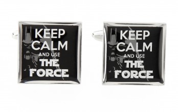 Spruch Manschettenknöpfe - Keep Calm and Use The Force