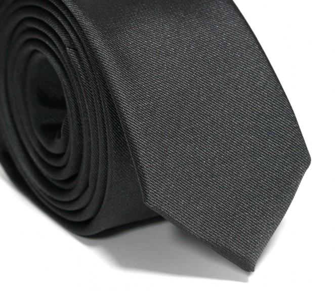 Anthrazitgraue Slim-Krawatte - Siena II