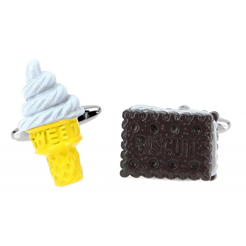 Eis Manschettenknöpfe - Ice cream and Biscuit