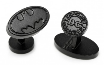 Batman Manschettenknöpfe - Satin Black Batman Logo