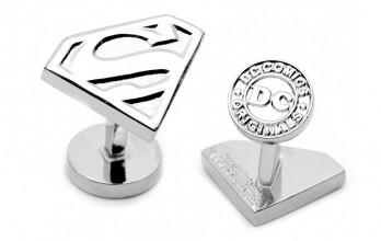Superman Manschettenknöpfe - Silver Superman Shield
