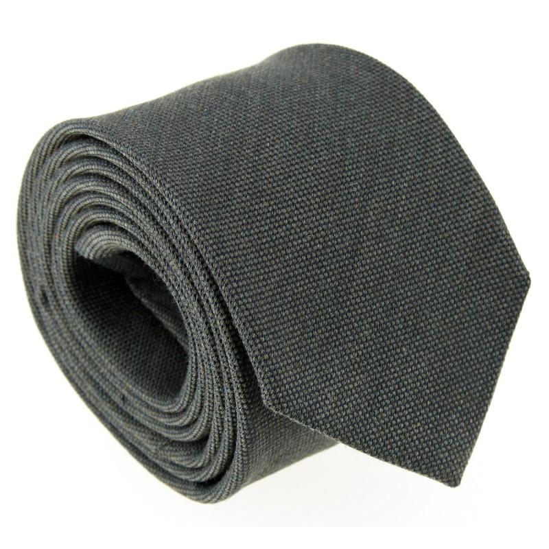 Khakifarbenes Grüne Woll- und Seiden Krawatte - Brisbane II